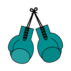 color image set boxing gloves sport element vector illustration