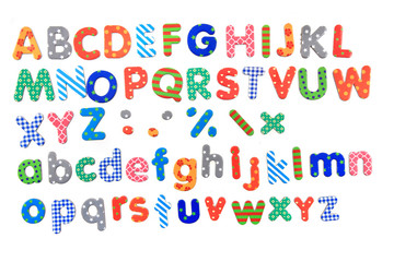 color plastic alphabet