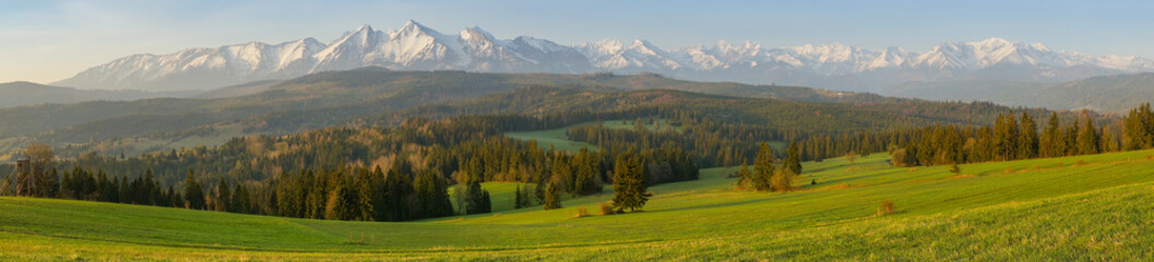 Deurstickers Meloen Tatras mountains landscape panorama