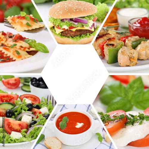 Sammlung collage essen gerichte restaurant speisekarte for Koch gerichte