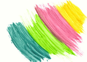 Multicolored brushstrokes watercolor