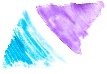 Multicolored brushstrokes watercolor