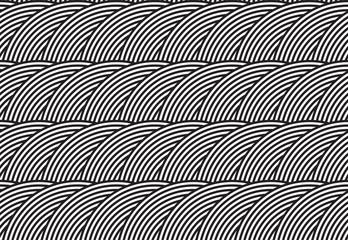 Vector seamless pattern. Modern stylish texture. Geometric striped ornament. Monochrome linear weaving.