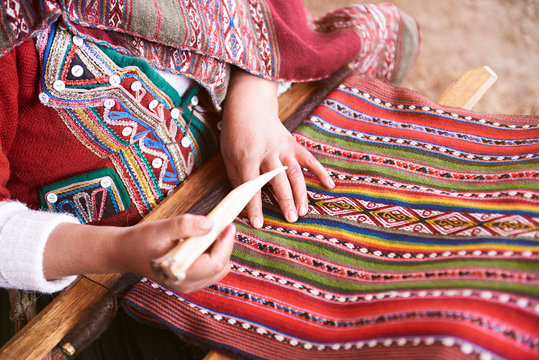 Handmade traditional colorful wool