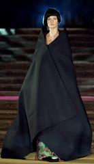A model displays for Italian designer Fausto Sarli fall/winter 2001-2002 Haute Couture fashion show ..