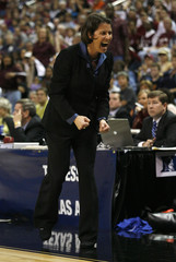 Duke coach McCallie reacts to a play in their NCAA basketball game in Oklahoma City, Oklahoma