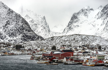 Winter morning in Reine, Lofoten