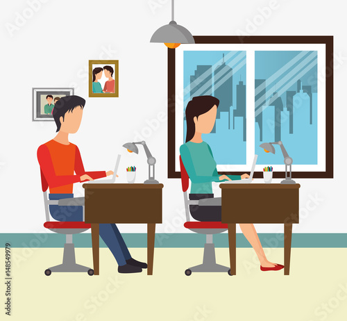 Teamwork people gathered in the office vector for Descargar embroidery office design 7 5 full