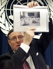 Hans Von Sponeck, who resigned as the United Nation's humanitarian coordinator for Iraq, shows a pic..