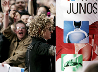 Canadian Idol winner Kalan Porter arrives at the Juno Awards.