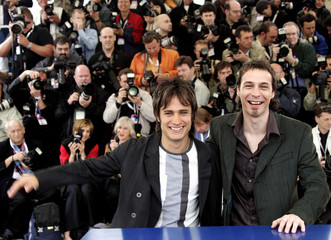 ACTORS BERNAL AND MARTINEZ POSE DURING PHOTOCALL AT 57th CANNES FILM FESTIVAL.