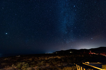 Milky way over the Baja