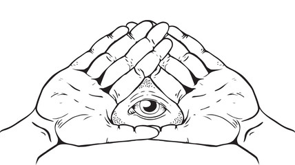 Illuminati Sign - Eye of God