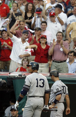 Yankees' Rodriguez is jeered by Indians fans during Game 2 of MLB  American League Division Series playoff game in Cleveland
