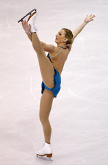 Rochette of Canada performs during the Ladies Free Skating portion of the 2009 ISU World Figure Skating Championships in Los Angeles