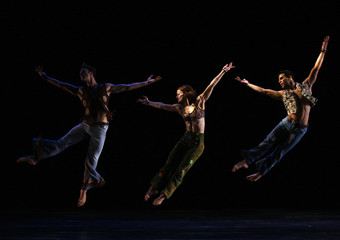 "Dancers from the U.S. based Paul Taylor Dance Company perform ""Changes"" during a rehearsal in Taiwan"