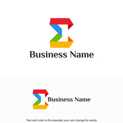Modern Education logo designs template, Modern Sigma Logo