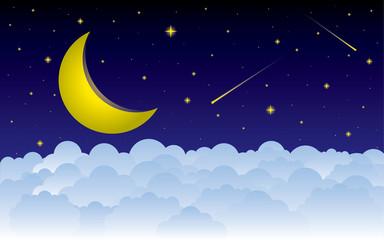 good night vector illustration design