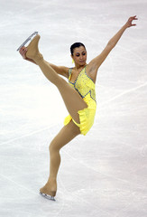 Stacy Perfetti of Brazil performs at he 2009 ISU World Figure Skating Championships in Los Angeles