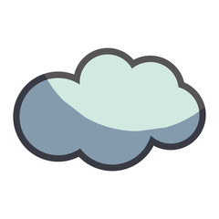 cute natural cloud weather icon