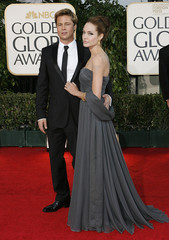 Brad Pitt and Angelina Jolie arrive at the 64th annual Golden Globe Awards in Beverly Hills