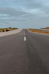 New road way to Sand dunes, Mui Ne South Vietnam Dec 2016