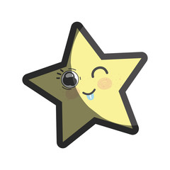 kawaii funny and cute star design