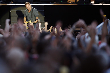U.S. singer Bruce Springsteen performs with the E Street Band during the Les Vielles Charrues Festival in Carhaix