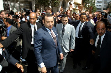 MOROCCO'S KING MOHAMMED VI VISITS BOMBED SITES IN CASABLANCA