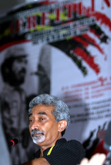 East Timor's PM and Fretilin party Secretary-General Alkatiri delivers speech in Dili