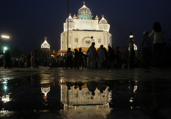 Devotees visit a Gurudwara in New Delhi