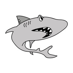Tiburón vector dibujo ilustración