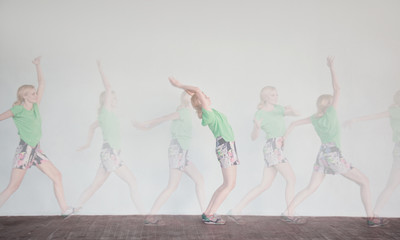 Sequences of woman in dance