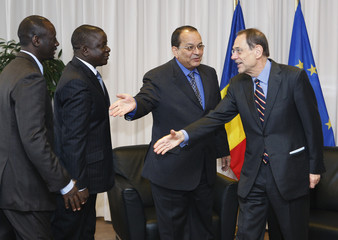 Chad's Foreign Minister Allami meets EU foreign policy chief Solana in Brussels