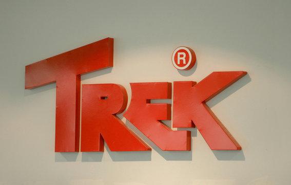 View of Trek 2000 International logo in Singapore