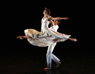 Dancers Mathilde van de Wiele and Fabrice Gallarrague of the Ballet d'Europe perform Mireille in Madrid
