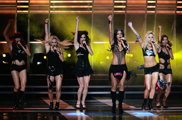 The Pussycat Dolls perform during the Fashion Rocks show at Radio City Music Hall in New York