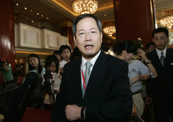 South Korea's chief nuclear negotiator Chun Yung-woo speaks to the media in Beijing