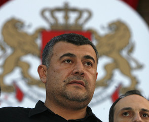 Opposition coalition leader Gachechiladze attends a news breafing in central Tbilisi