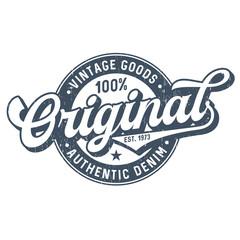 Original Vintage Goods - Used Look T-Shirt Design