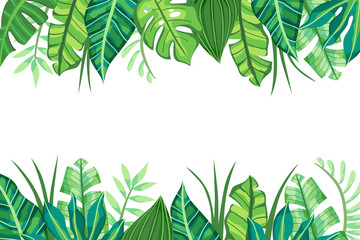 Isolated Tropical Background design. Vector illustration.