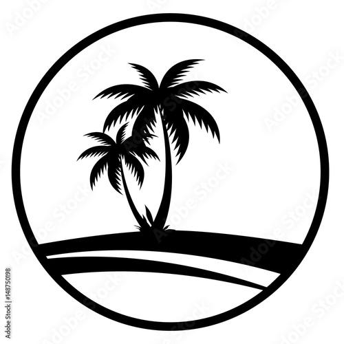 quot sommer icon mit palmen  schwarz  quot  stockfotos und clip art palm tree public domain clip art palm tree public domain