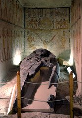 RESTORATIONS END IN THE TOMB OF PHARAOH RAMSES VI IN LUXOR.