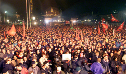 MASS ANTI-GOVERNMENT PROTEST IN VIENNA.