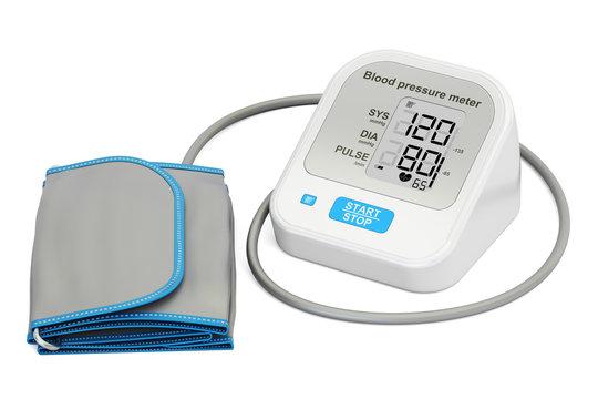 electronic sphygmomanometer, 3D rendering