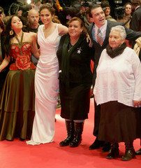 Actresses Zapata and Lopez, Andrada, actor Banderas and Simental pose before a screening at the 57th Berlinale International Film Festival in Berlin