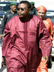 NIGERIAN DEFENDANT OSAKWE ARRIVES FOR FRAUD TRIAL AT ABUJA COURT.