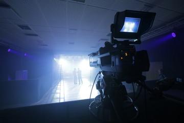 Professional TV Camera set up for a concert