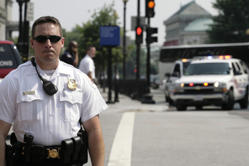 U.S. Secret Service police close Pennsylvania Avenue near the White House in Washington