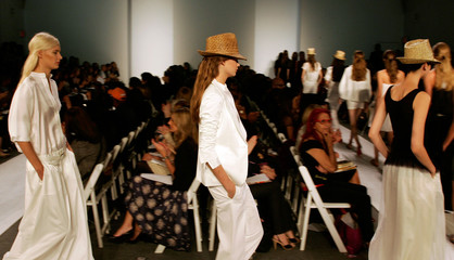 Model display creations from from the Chaiken Spring Collections 2007 during New York fashion week
